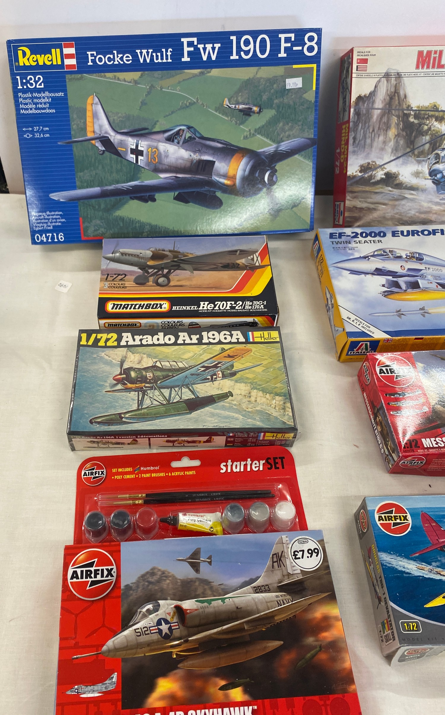 Selection of 8 boxed craft models to include, Mil MI-24 Hind-d 1/72, Douglas TBD-1, EF-2000 - Image 3 of 3