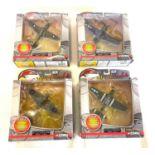 5 Boxed Corgi Warbirds series 2 aircraft models includes Kittyhawk Mk IV, P-51D Mustang, Corsair F