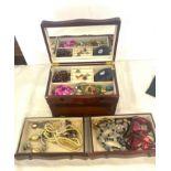 Box of costume jewellery, beads etc