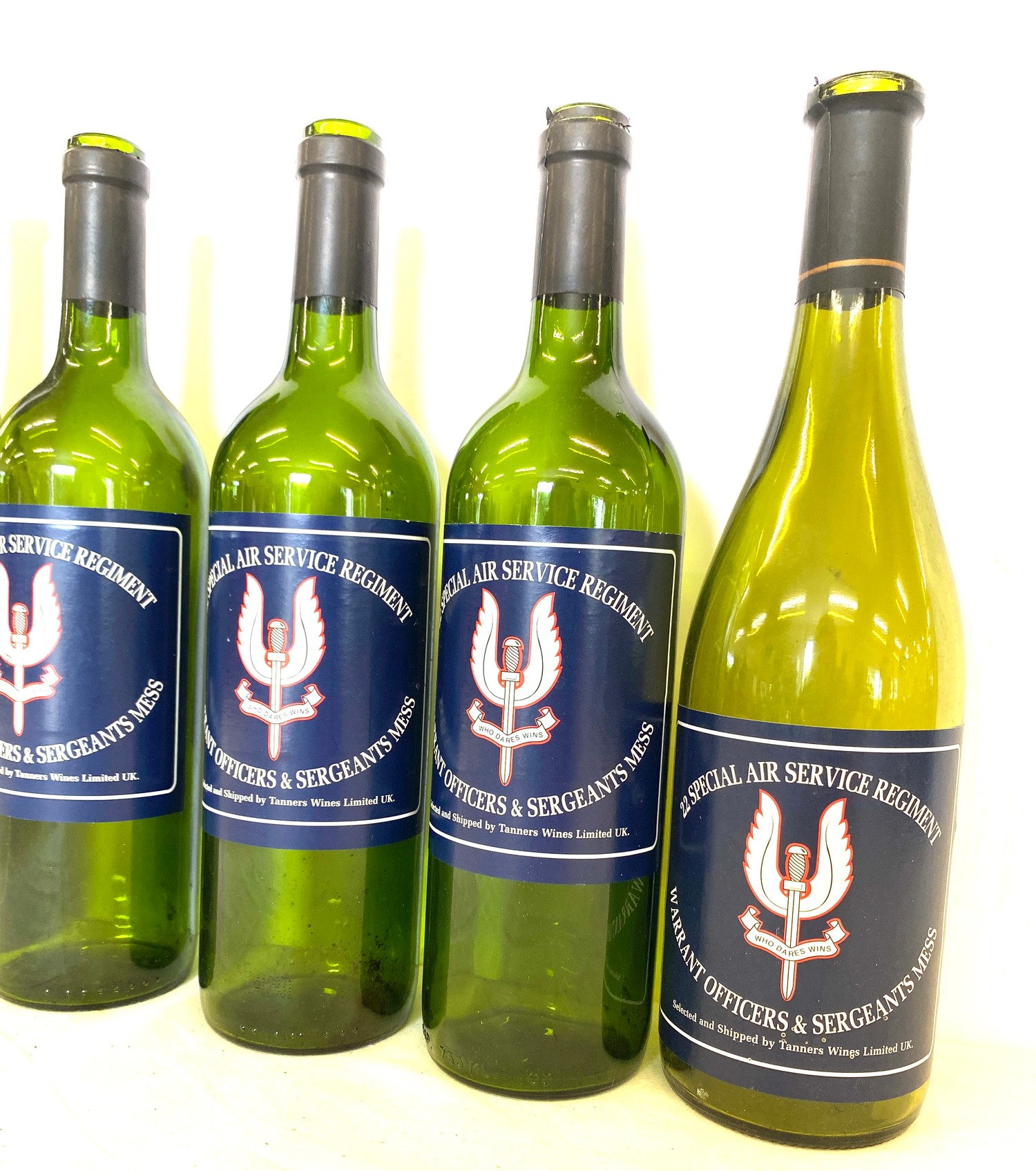 """Box of 13 """"22 Special Service Regiment"""" wine bottles - empty - Image 2 of 3"""