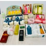 Selection of vintage toiletries soap etc