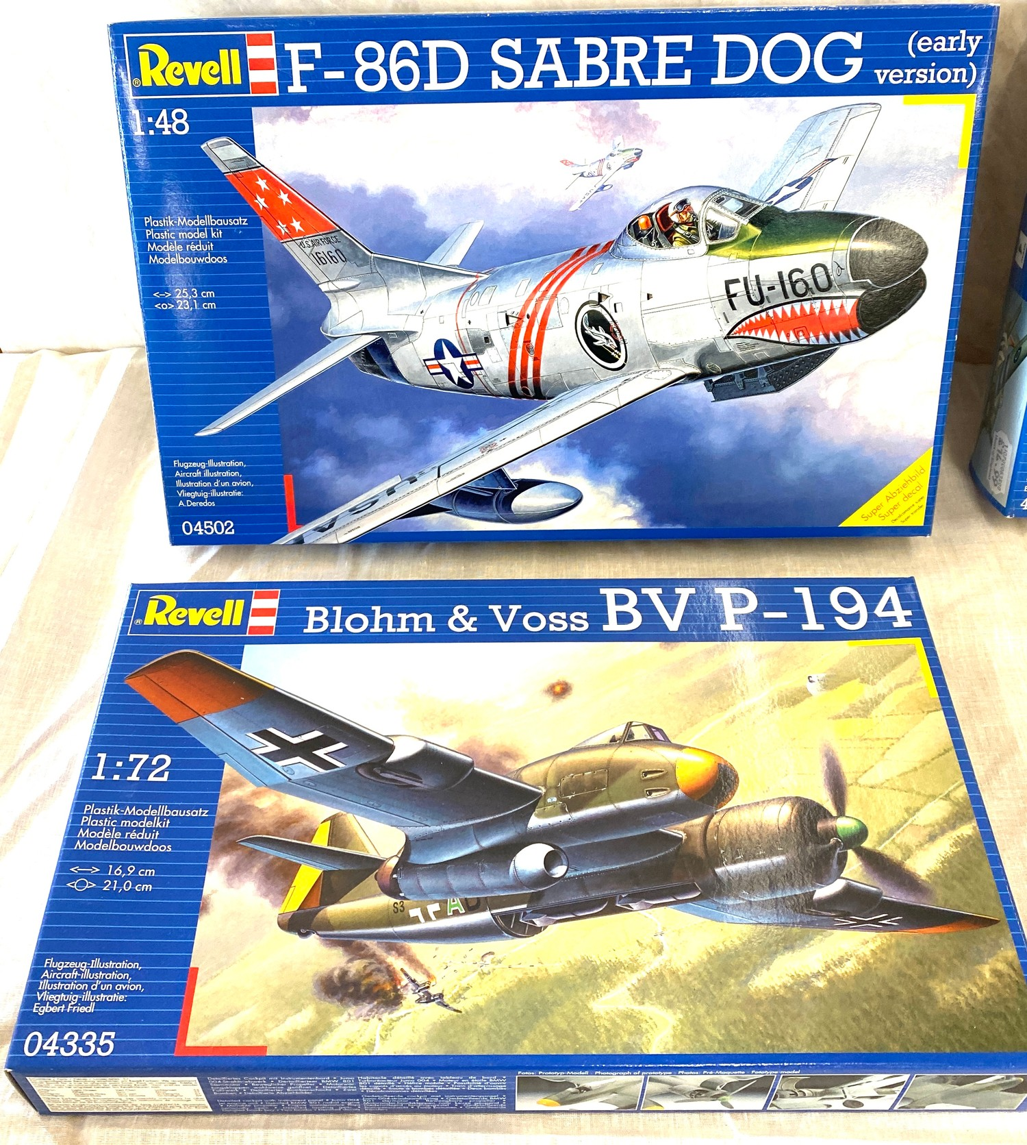 Selection of aircraft models in original boxes, Revell F-86D Sabre Dog, Blohm & Voss BV P-194, - Image 2 of 3