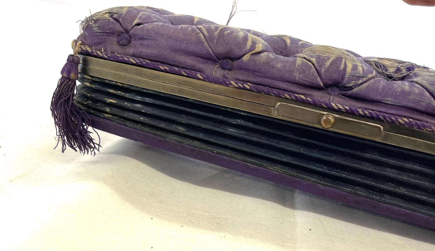 Antique concertina cased set of gloves and glove stretchers - Image 2 of 4