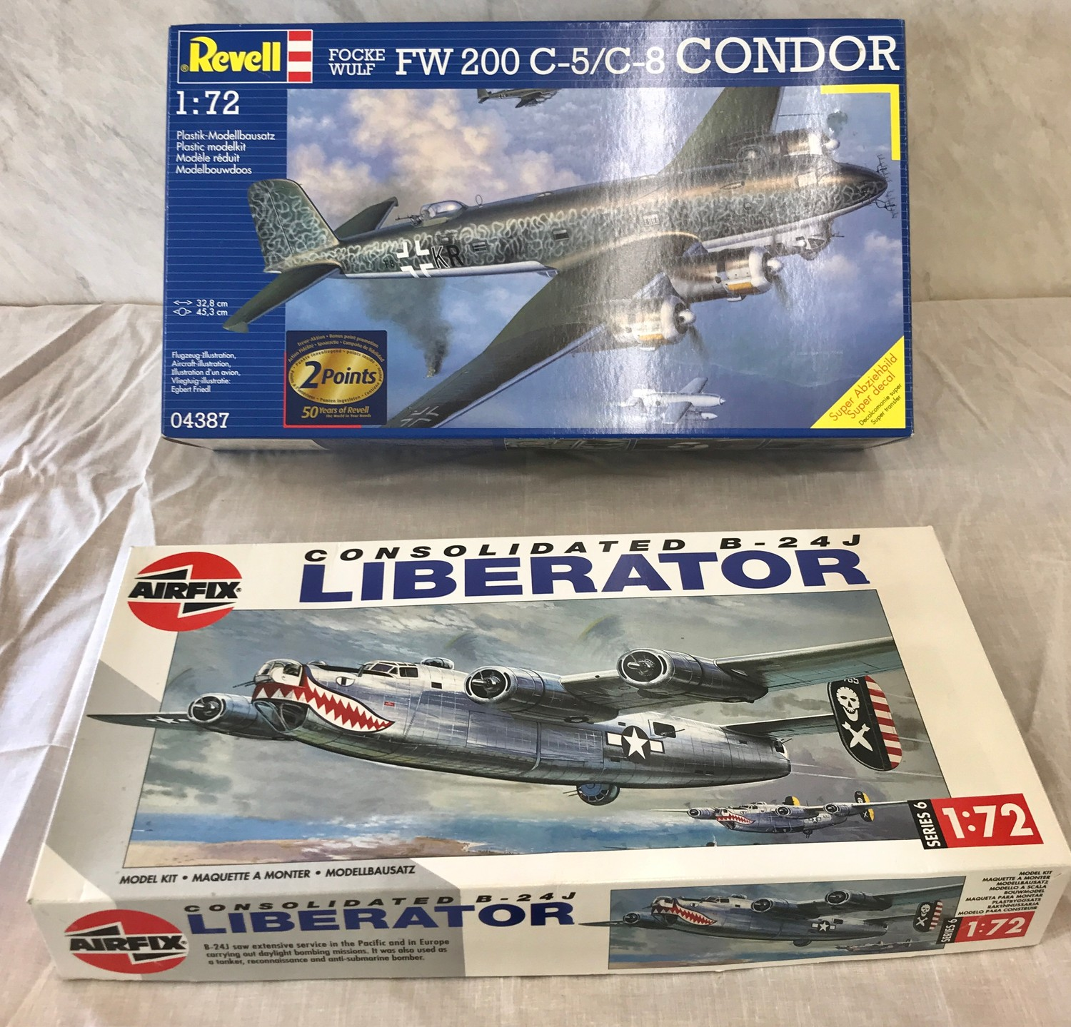 Selection of aircraft models in original boxes, revell Mirage 5 BR Mephisto, Airfix Consolidated B- - Image 3 of 3