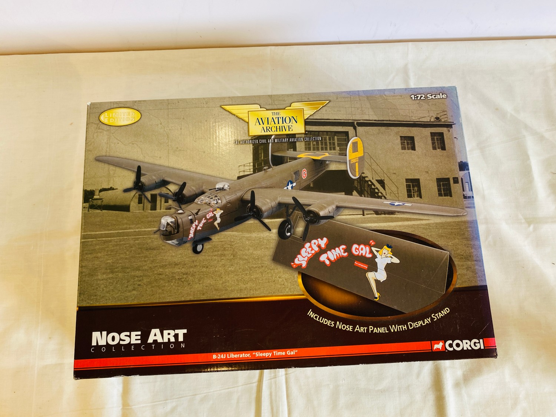 Boxed Corgi The Aviation Archive Nose Are B-24J Libertator 20 42-99813 sleepy time gal - Image 3 of 3
