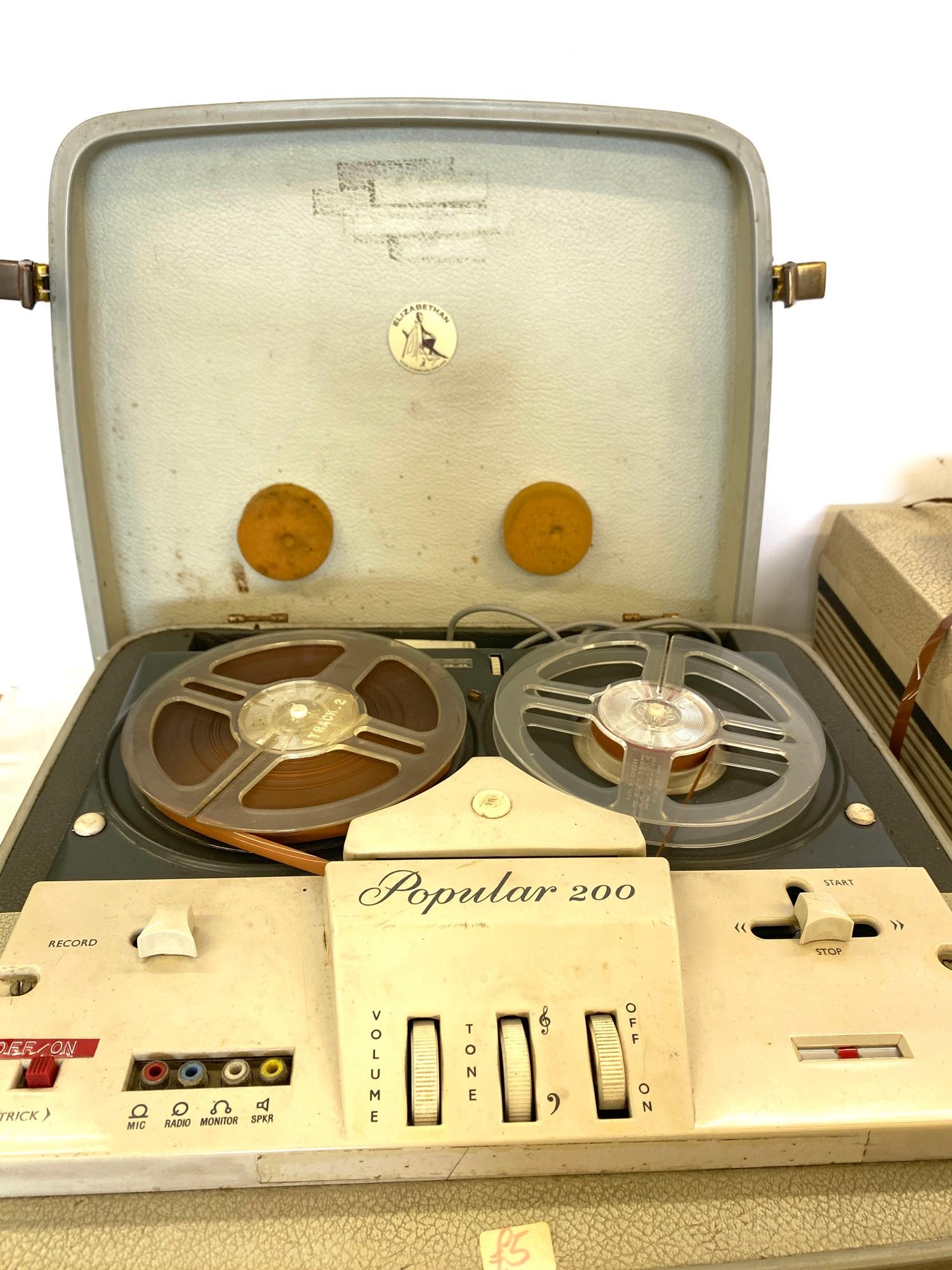 2 Vintage reel to reel players - Image 2 of 5