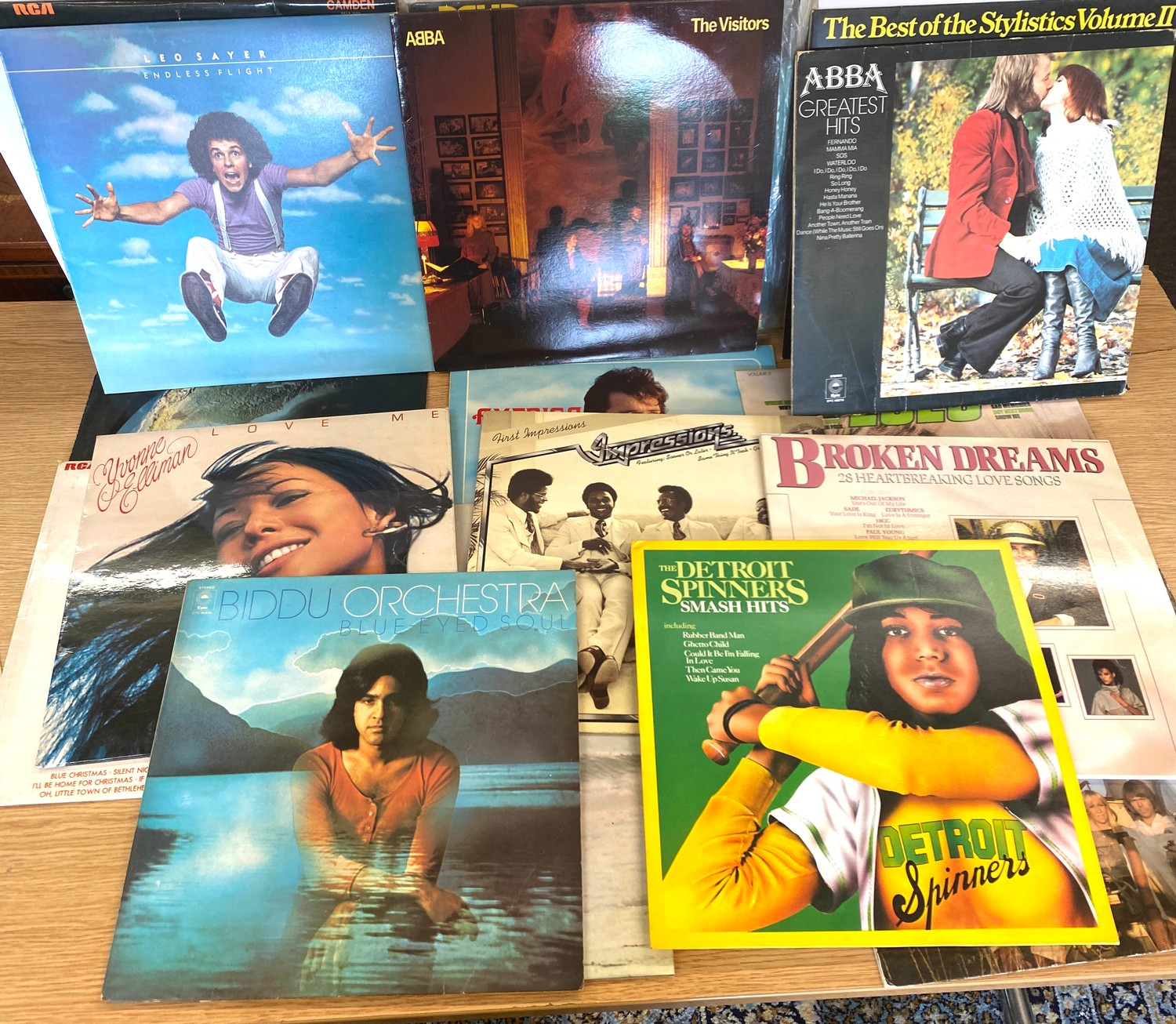 Selection of assorted records includes Elvis, Abba, Leo Sayer etc - Image 4 of 5