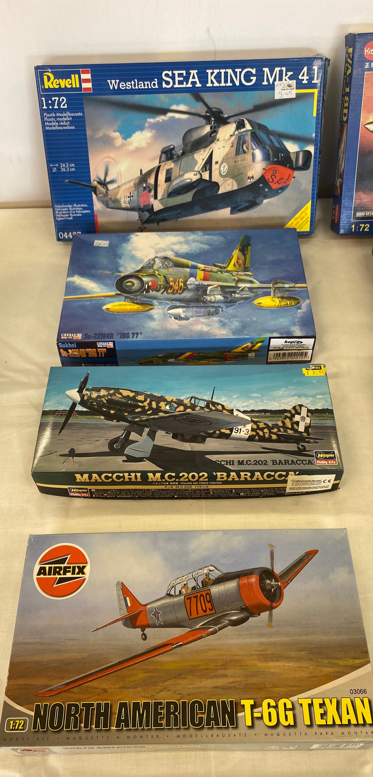 Selection of 8 boxed craft models to include, Revell Westland sea king, F/A 18D, Airfix Saab Tunnan, - Image 3 of 3