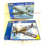 2 boxed craft models, Revell Dornier Do 24T, Supermarine Spitfire Mk.22/24