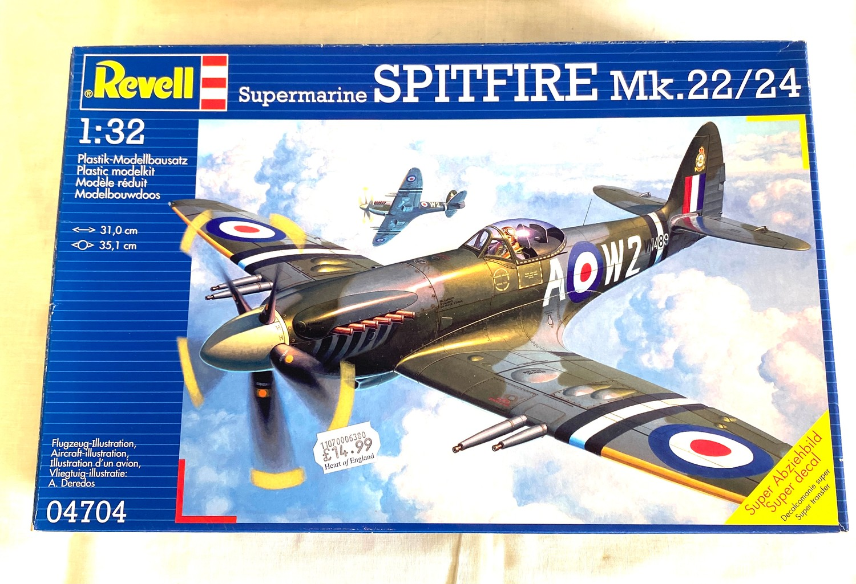 2 boxed craft models, Revell Dornier Do 24T, Supermarine Spitfire Mk.22/24 - Image 2 of 2