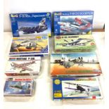 Selection of 8 boxed craft models to include, Desert Storm RF-4c, Revell Morthrop F-89, F-16 Mlu