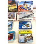 Selection of 8 boxed craft models to include, Sukh01 su-27, Dornier, Do 217 J/E, Martin B26C, Revell