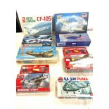 Selection of 8 boxed airfix models to include, Airrow CF-105, Airfix Boeing 314 clipper, Hobby craft