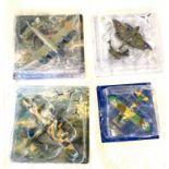 4 Boxed Assorted military aircraft models, includes Supermarine mk vb, Focke wulf fw 200c, Handley
