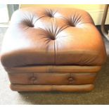 Chesterfield food stool with storage - very good condition