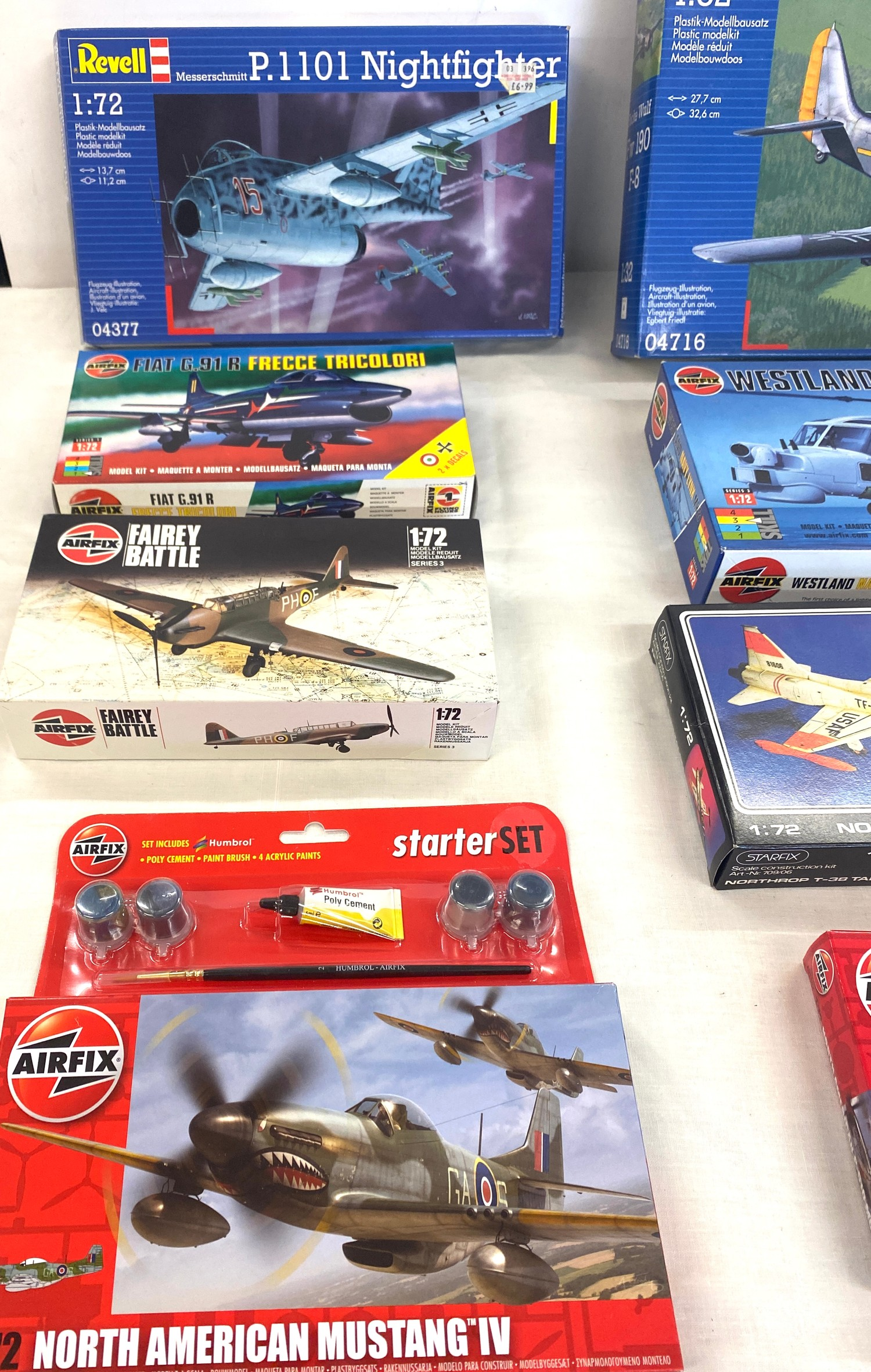 Selection of 8 boxed airfix models to include, Revell, P.1101 nightfighter, Focke Wulf FW 190, - Image 2 of 3