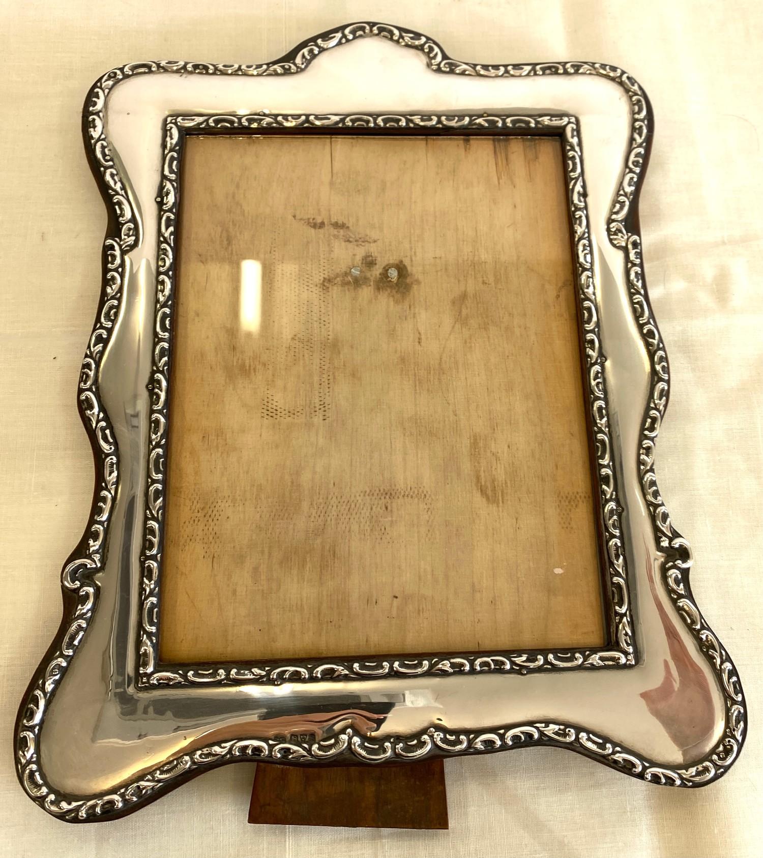 Hallmarked silver picture frame