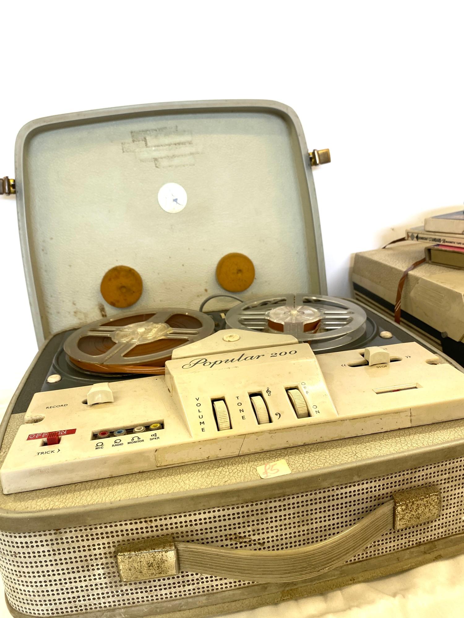 2 Vintage reel to reel players - Image 3 of 5