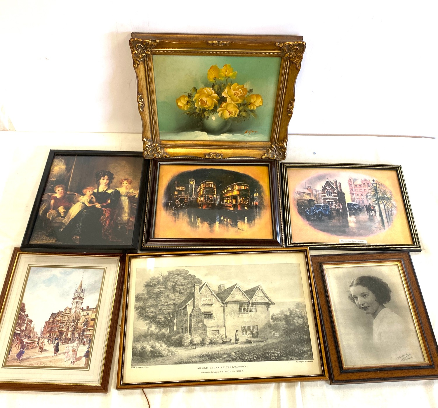 Selection of assorted framed pictures