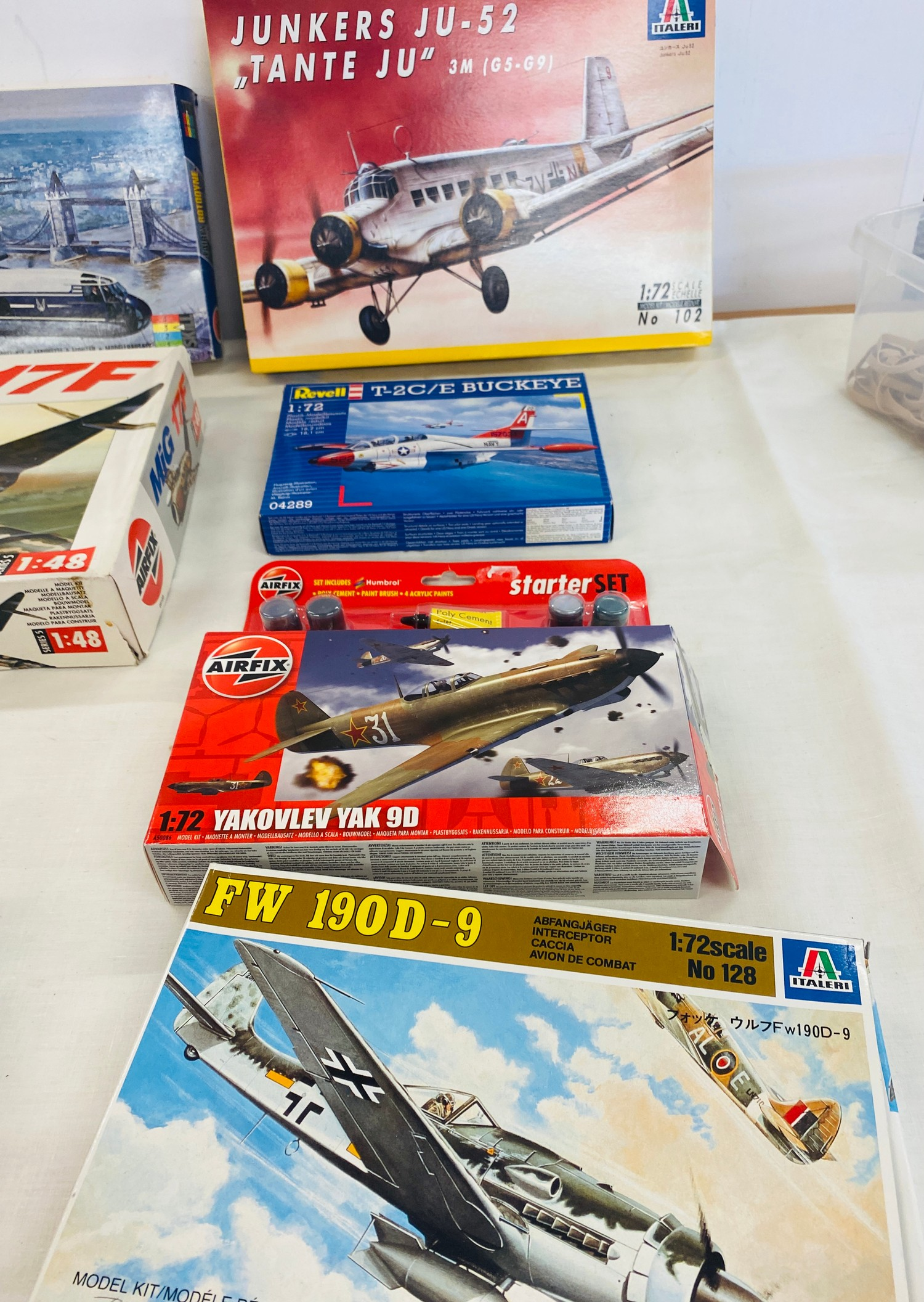 Selection of 8 boxed craft models to include, Airfix Fairey Rotodyne, Junkers JU-52, Mig 17F, - Image 2 of 3