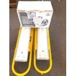 2 110v Lights and a boxed gas heater