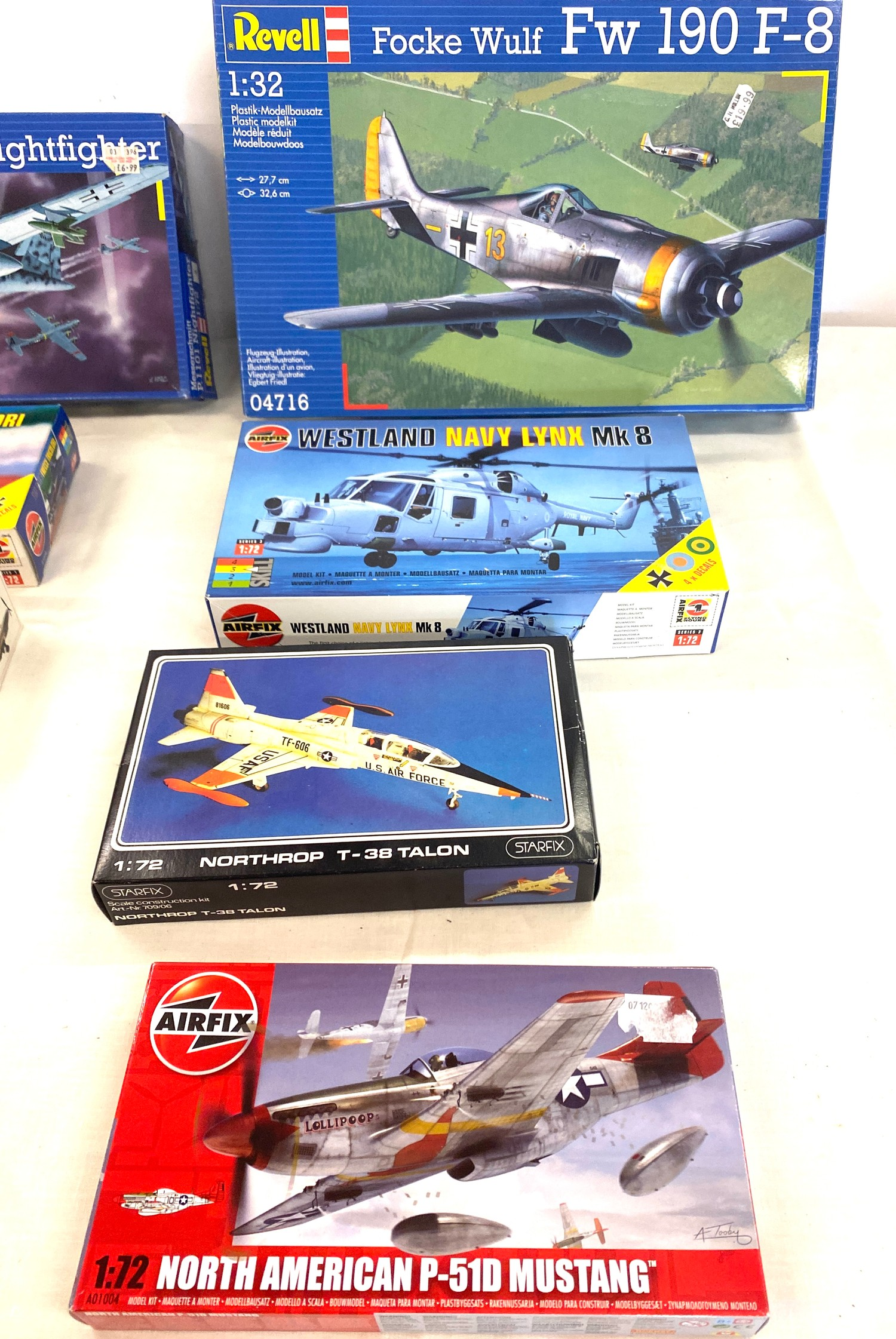 Selection of 8 boxed airfix models to include, Revell, P.1101 nightfighter, Focke Wulf FW 190, - Image 3 of 3