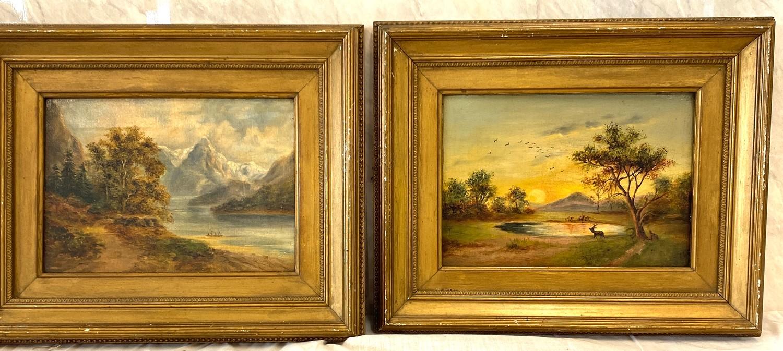 2 Small vintage gilt framed pictures