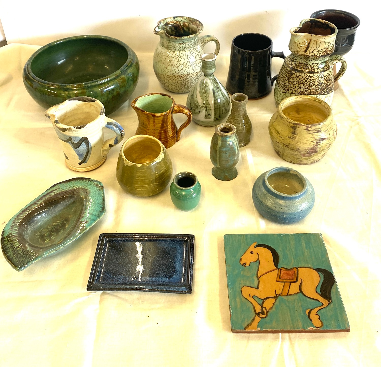 Large selection of studio pottery