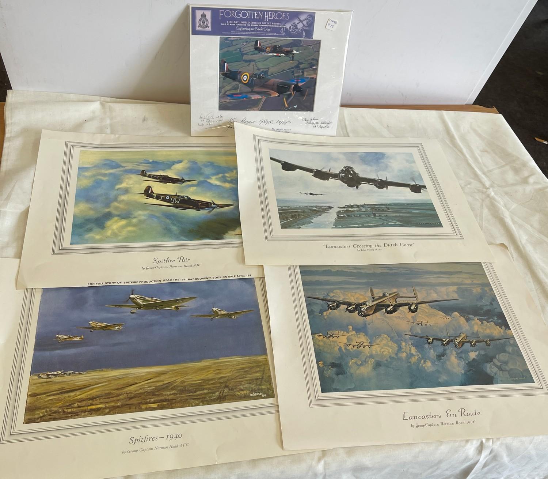 Selection of 5 Aircraft prints