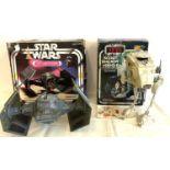 Vintage Star Wars Darth Vadar the Fighter in original box, Strarwars Return of the Jedi Scout Walker