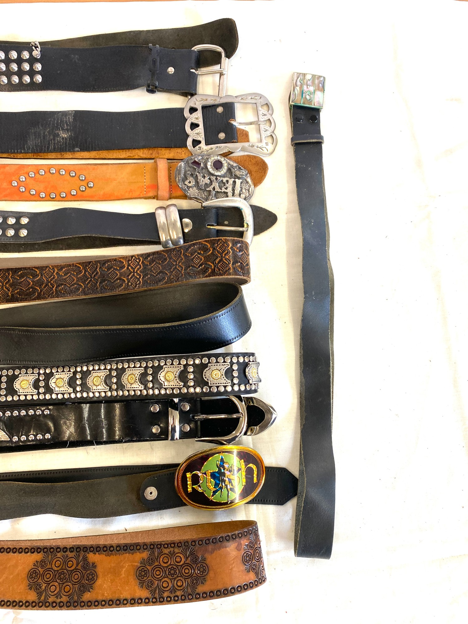 Large selection of assorted belts - Image 2 of 3