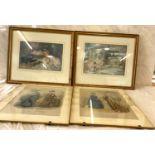 4 Assorted framed pictures