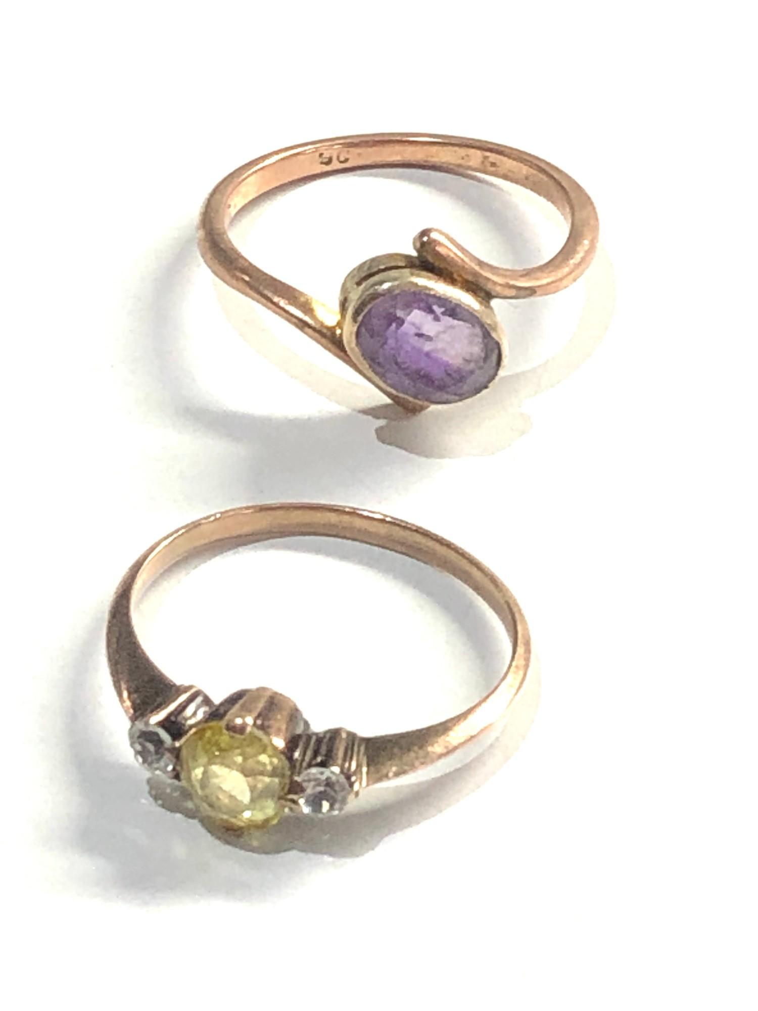 2 x 9ct Gold dress rings 3.7g