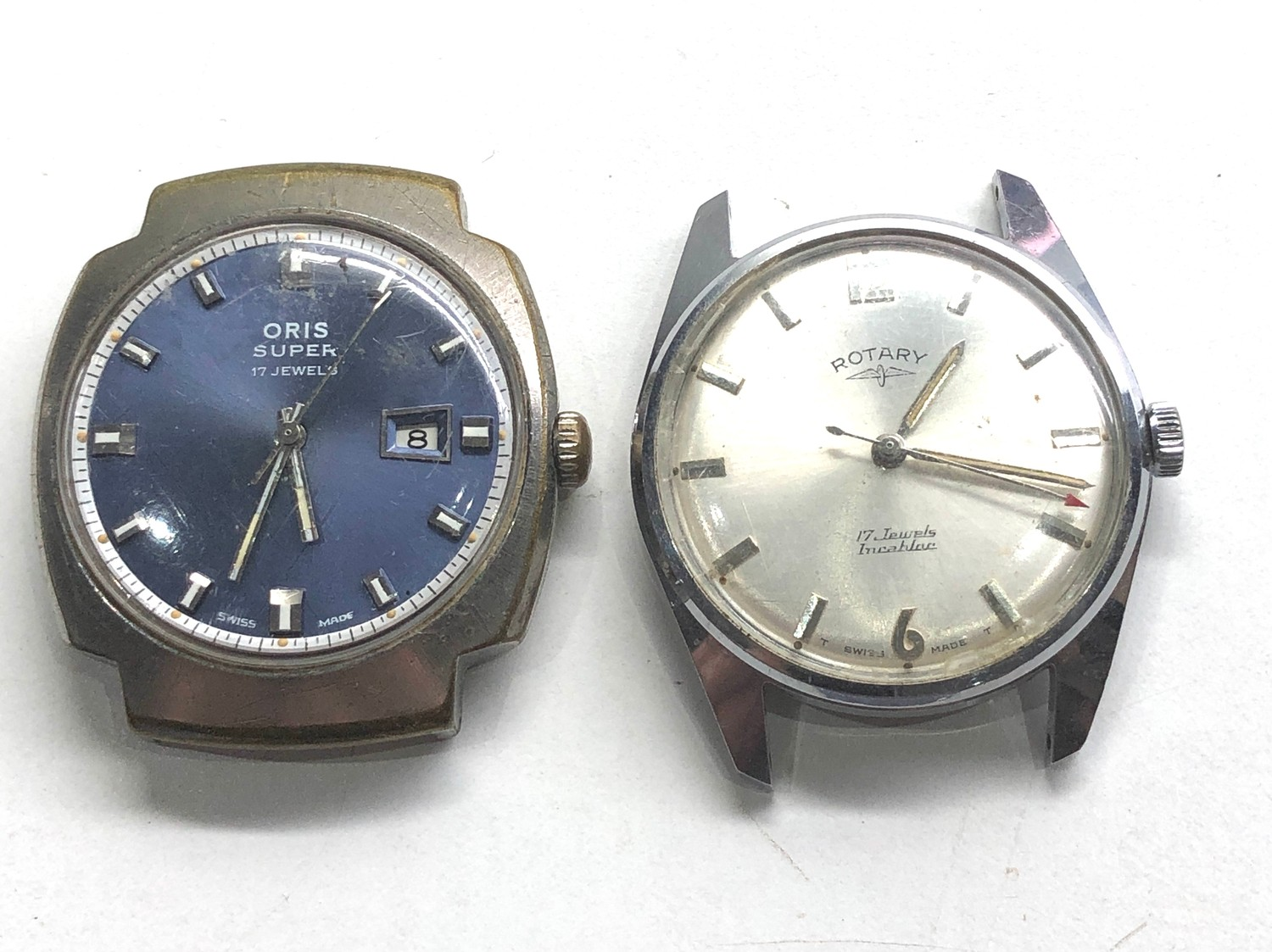 Selection of 4 vintage gents wristwatches includes rotary oris services and randal untested spares - Image 4 of 5