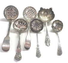 selection of antique silver serving spoons 168g