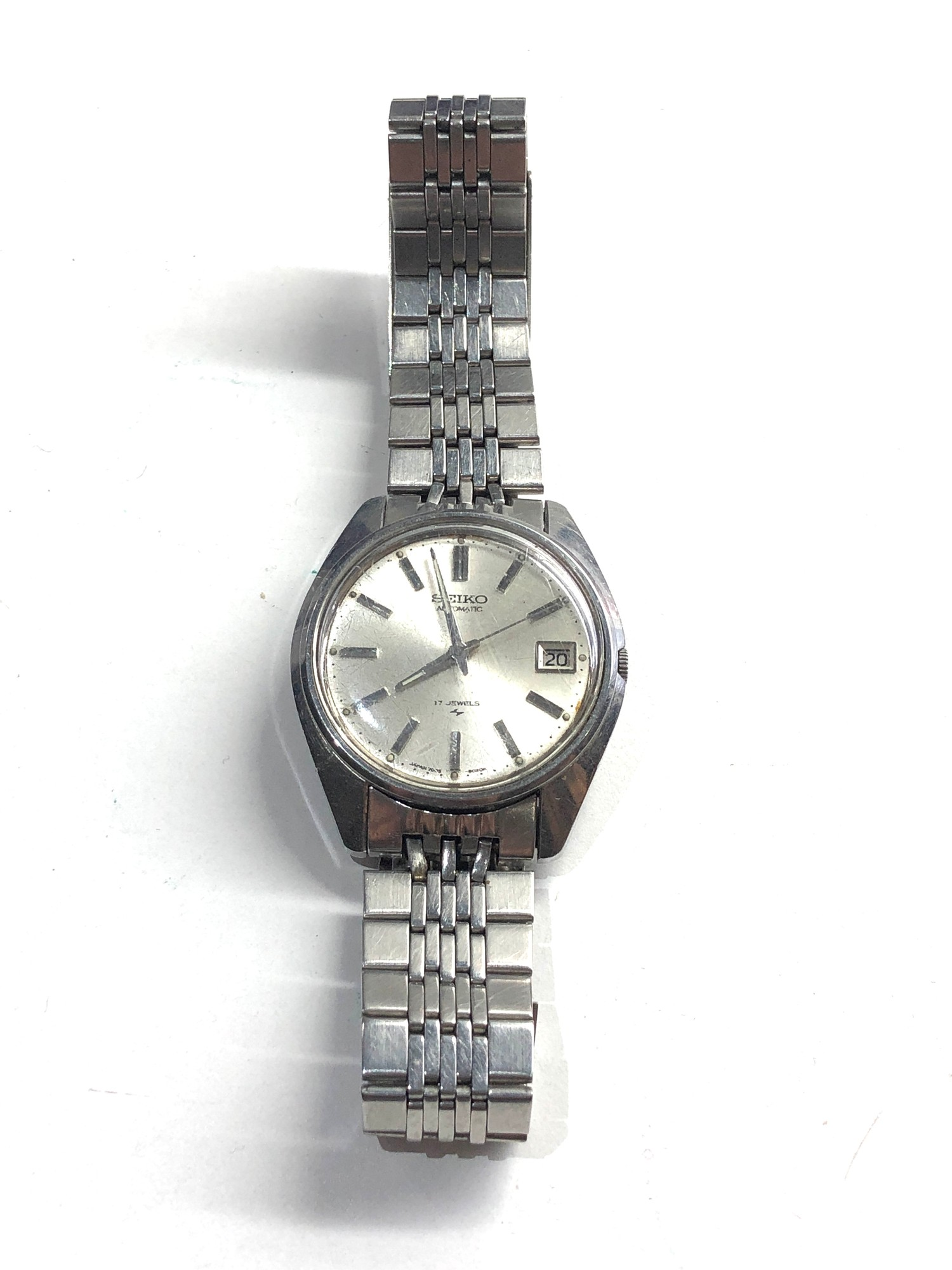 Vintage s-steel 1970's Seiko 7005-8022 classic 17 Jewel automatic Datejust watch working order no
