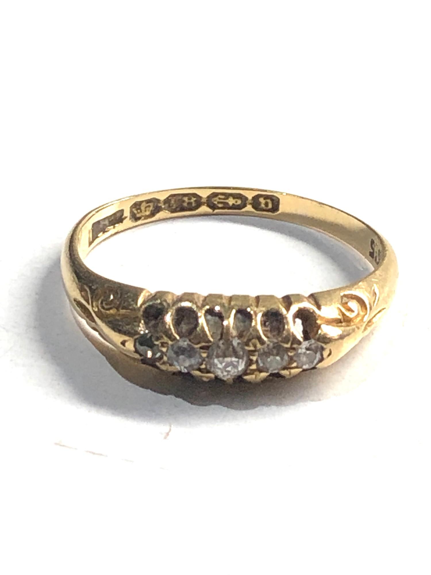 18ct vintage diamond five stone ring 2.4g