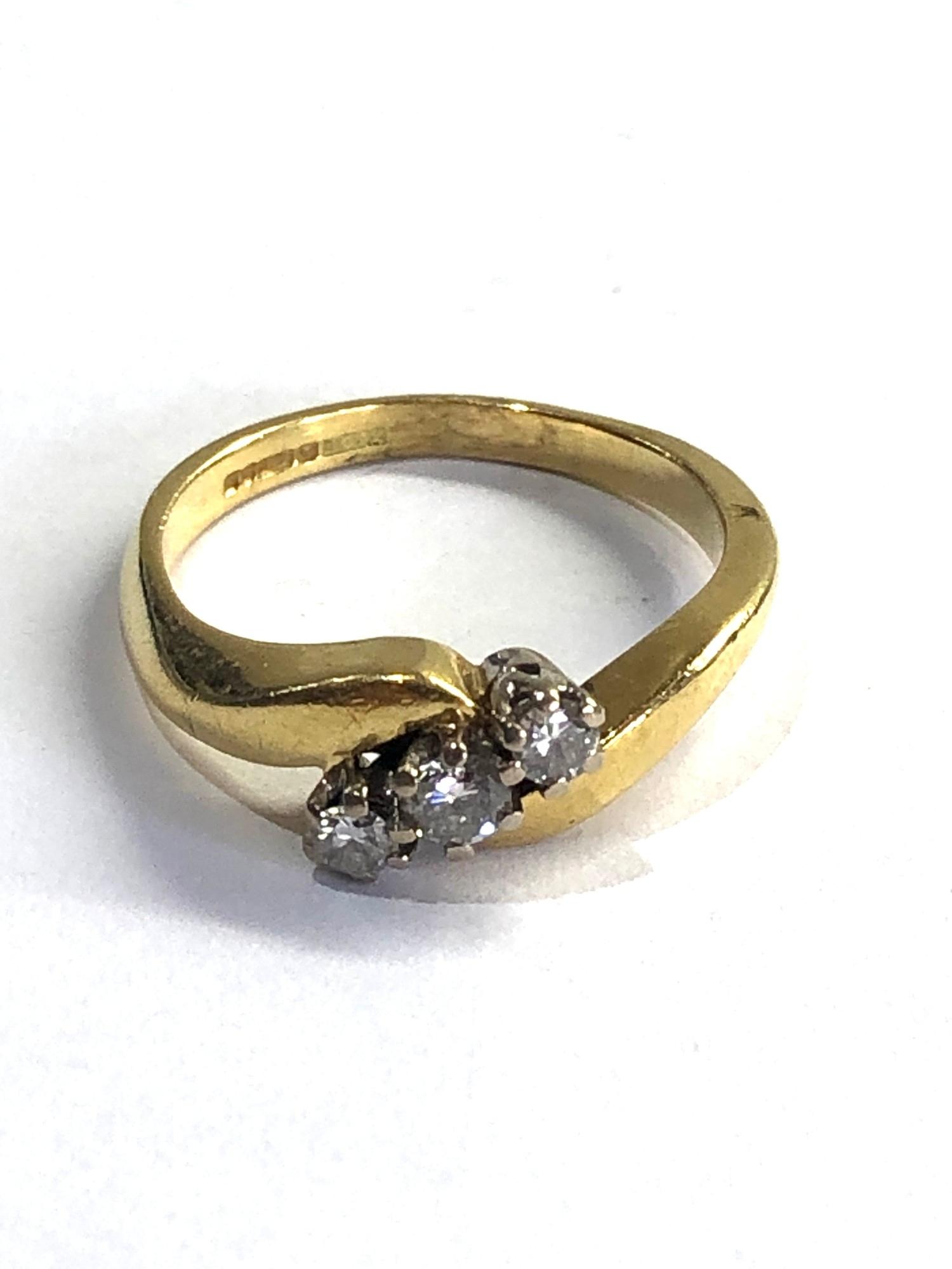 18ct gold diamond ring 0.25ct diamonds weight 4.3g
