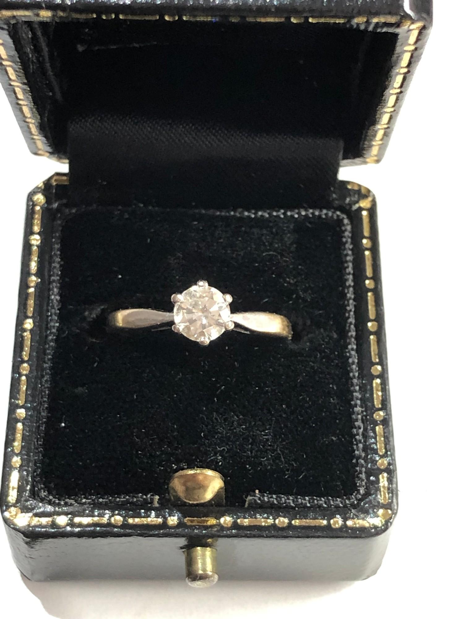 Fine 18ct gold diamond ring 0.50ct - Image 3 of 6