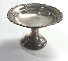 Silver sweet dish measures approx 8cm tall 12.5cm dia Chester silver hallmarks weight 120g