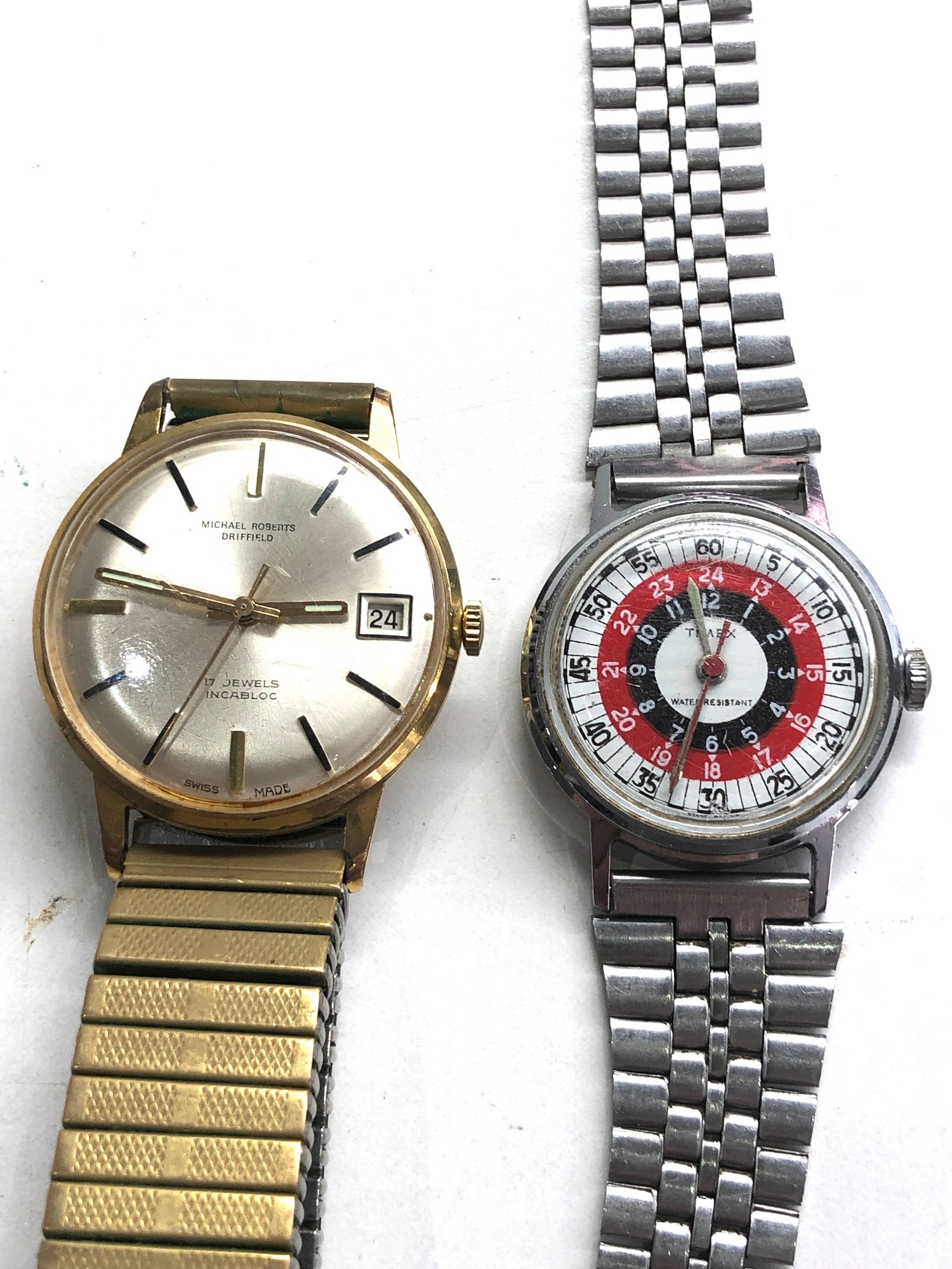 Selection of 4 vintage gents wristwatches includes ingersoll timex ruhla and michael roberts - Image 2 of 5