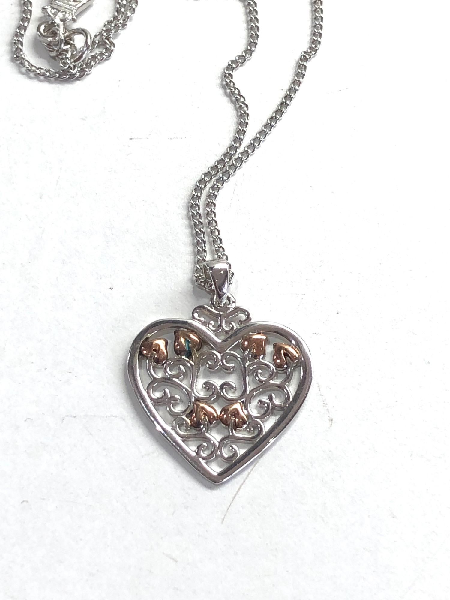 Clogau silver heart pendant and chain - Image 2 of 4