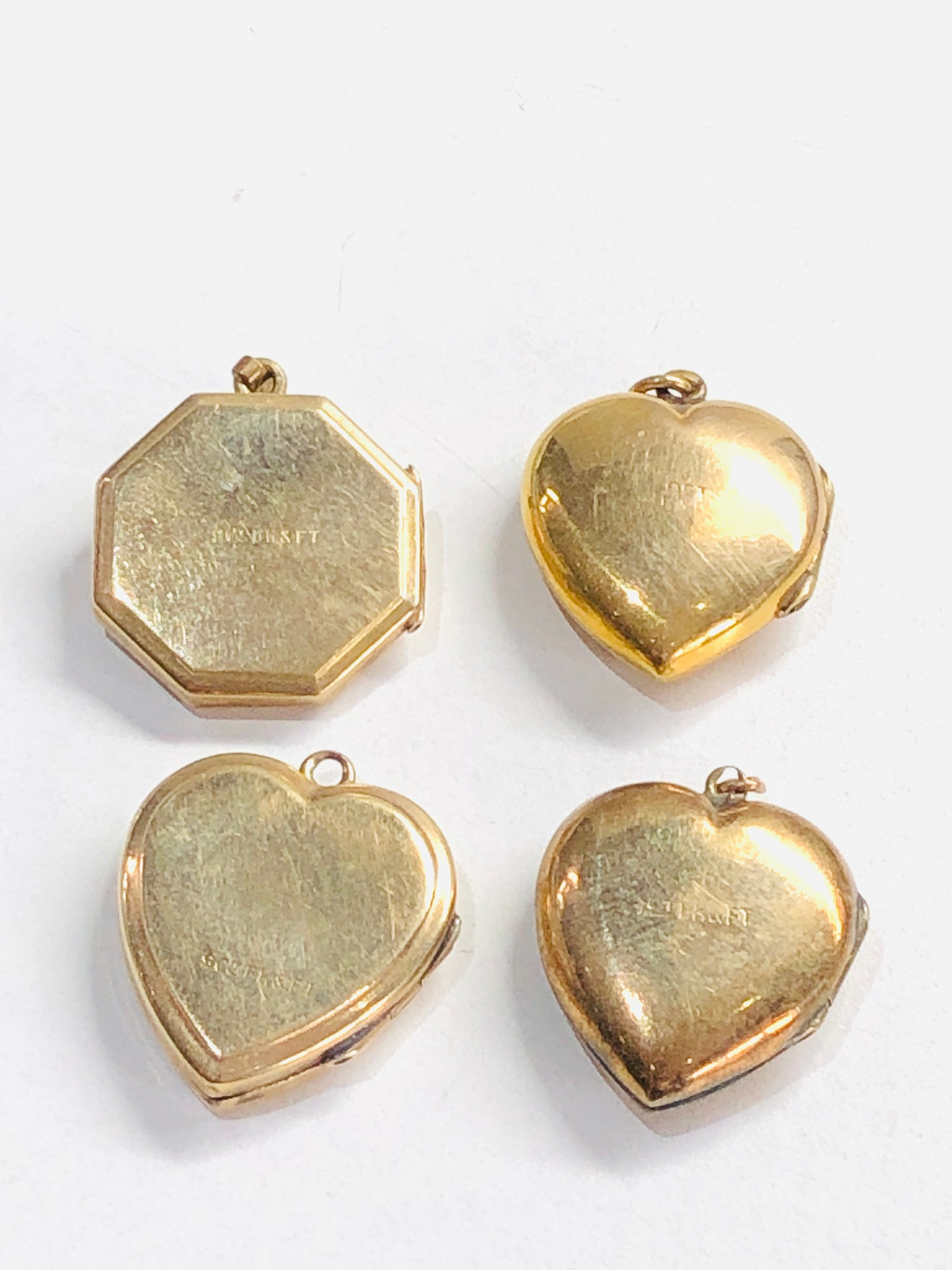 4 x 9ct back & front lockets 12.8g - Image 3 of 3