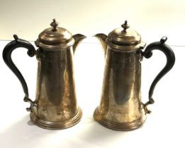 2 Silver water jugs Sheffield silver hallmarks total weight 805g age related marks dents etc