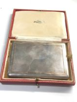 Fine boxed silver and gold trim cigarette case weight 207g