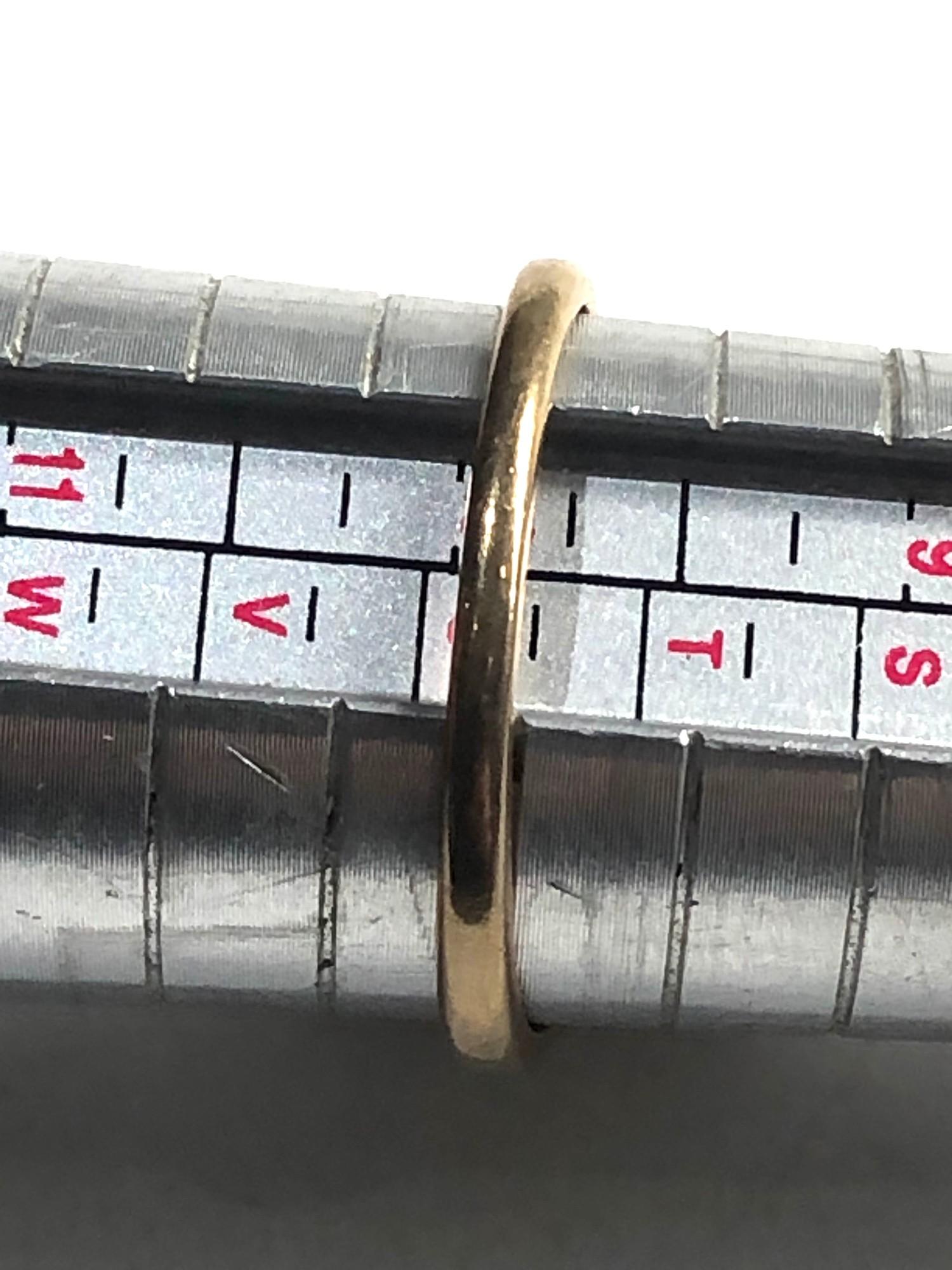 Vintage 9ct Gold ruby ring w/ diamond detail 4g - Image 3 of 3