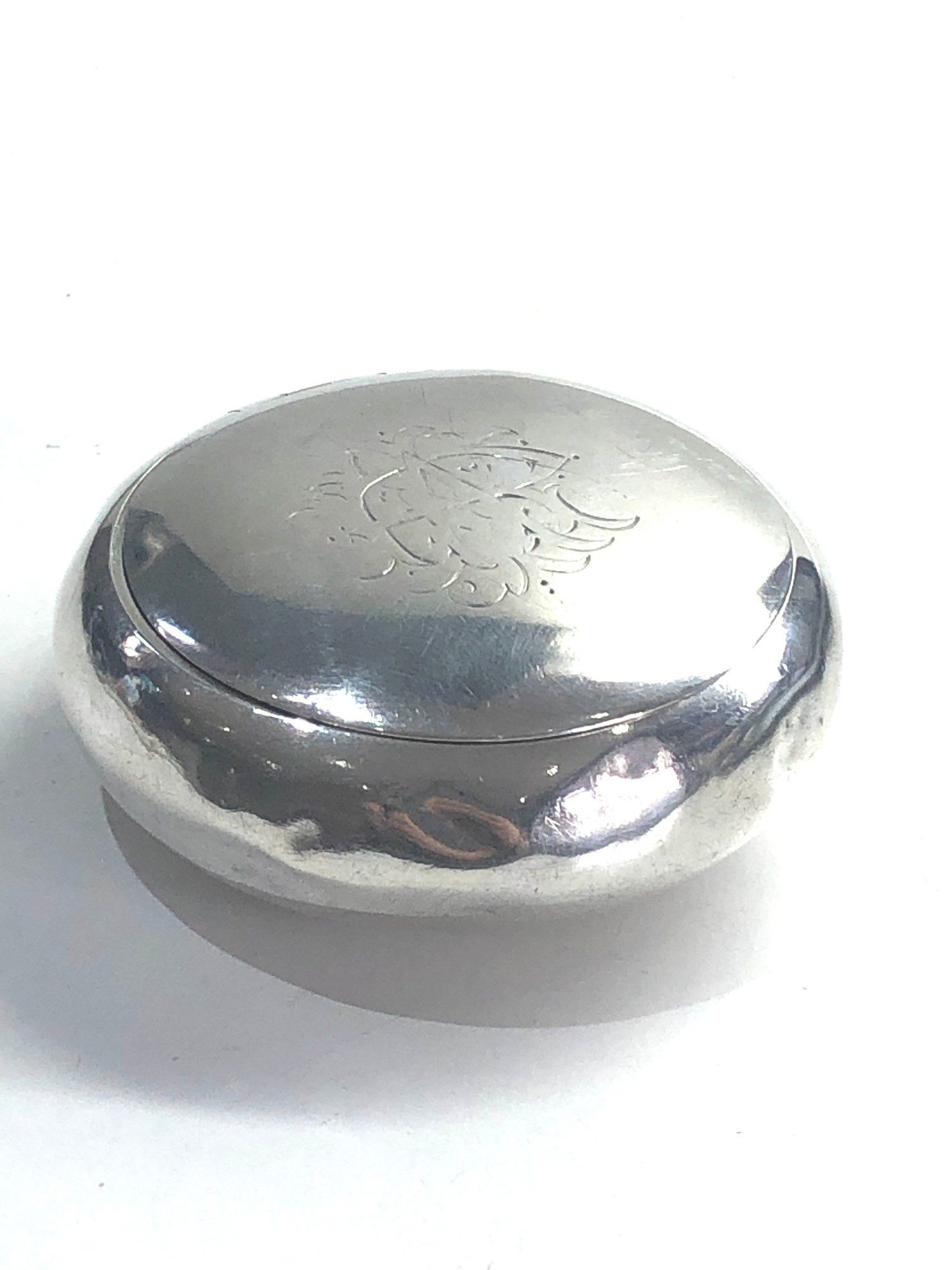 Antique silver tobacco box Birmingham silver hallmarks age related dents please see images for - Image 4 of 7