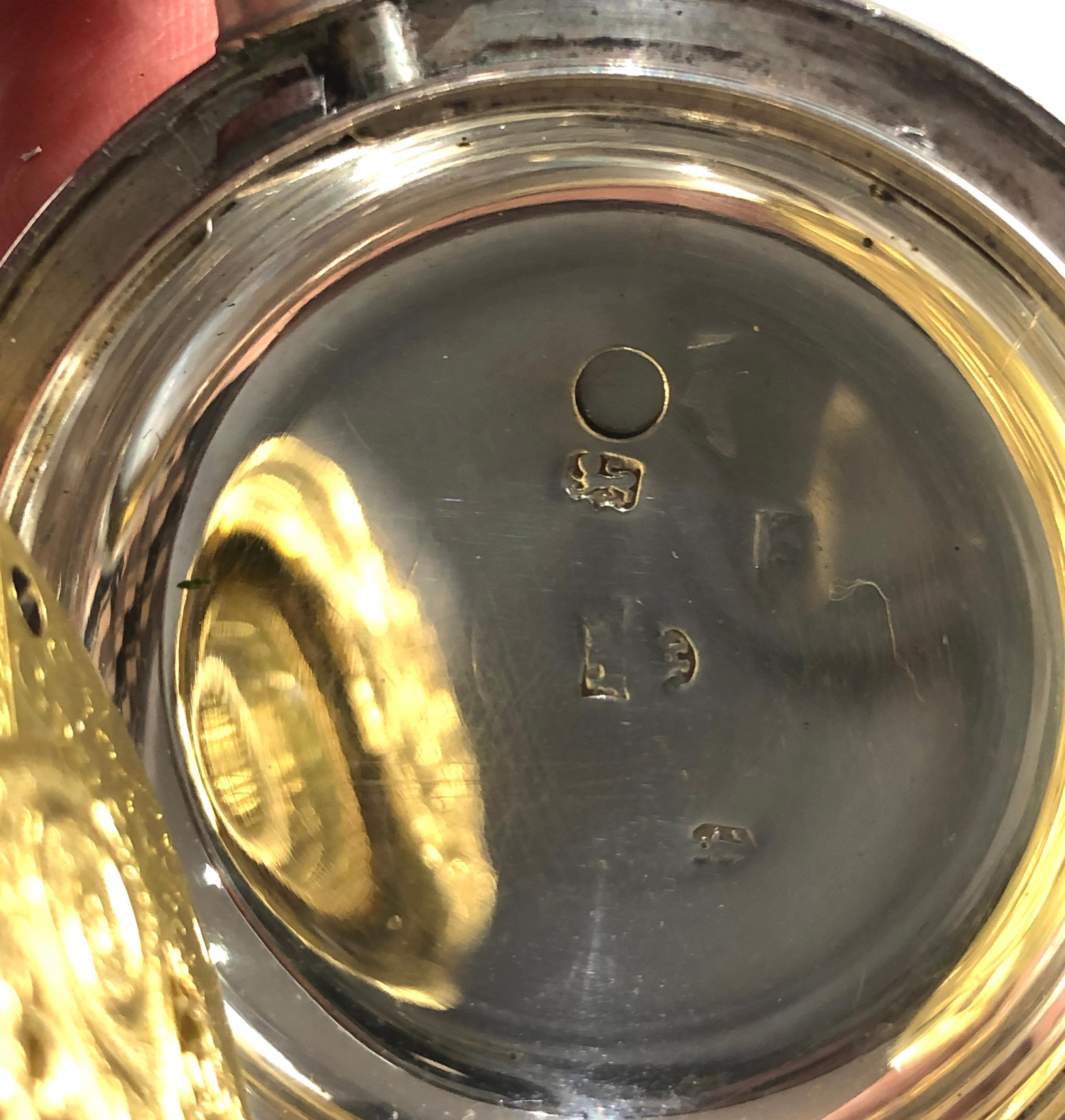 Fine antique silver full hunter case verge fusee pocket watch by Rob Turnball Greenock watch is in - Image 7 of 9