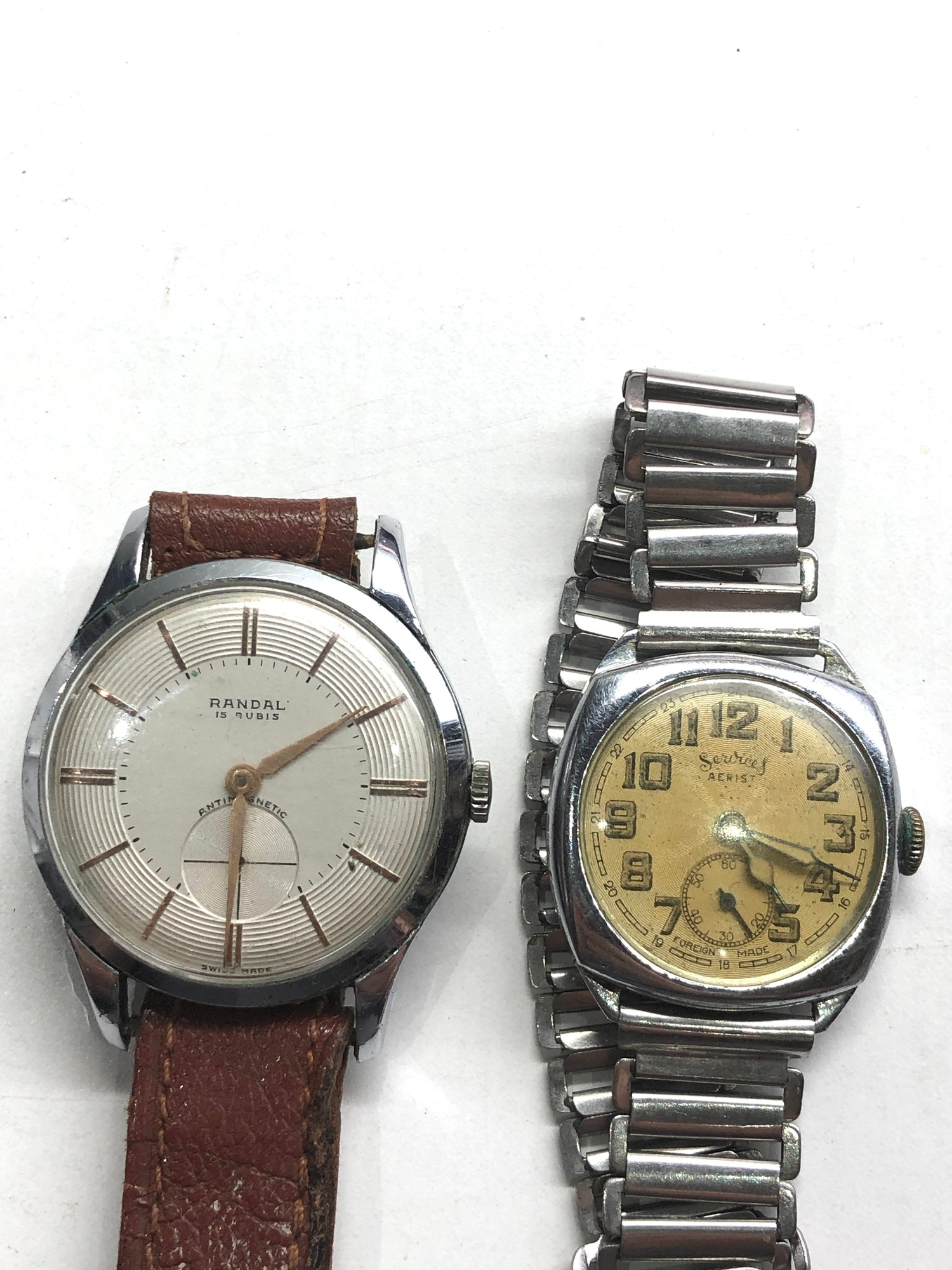 Selection of 4 vintage gents wristwatches includes rotary oris services and randal untested spares - Image 2 of 5