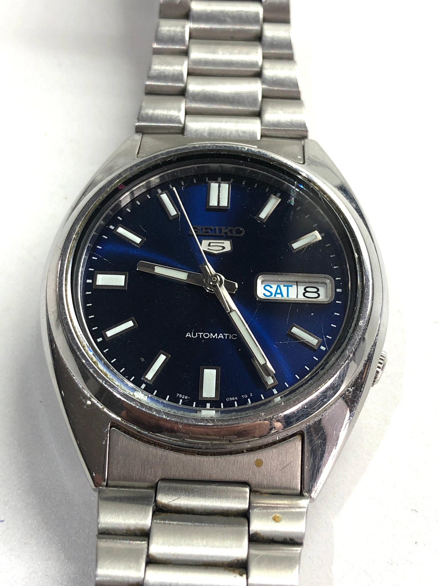 Gents seiko 5 automatic gents wristwatch in working order but no warranty is given 7526-0480 - Image 2 of 4